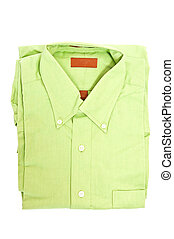 Green shirt - One new green shirt in white background