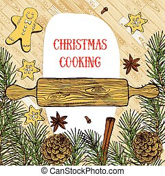 Christmas cooking background
