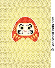 Daruma in waves