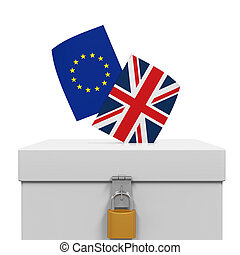 Brexit Referendum Illustration isolated on white background....