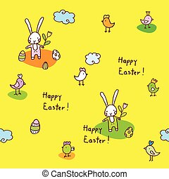Easter seamless pattern - Easter decorative element