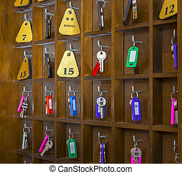 Hostel Room Keys - Rooms keys at a two stars hostel...