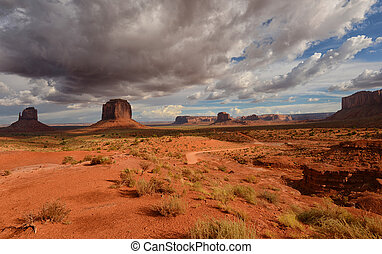 Monument Valley dirt road