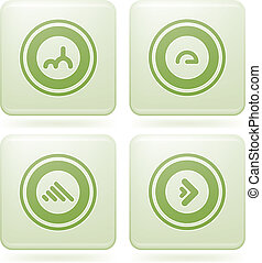 Olivine Square 2D Icons Set: Abstract - Bunch of abstract...