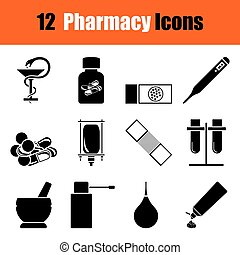Set of farmacy icons