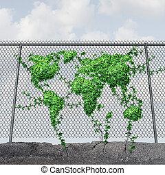 La terre, jour, concept,