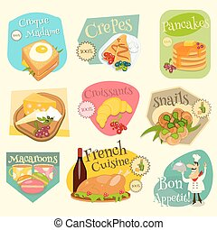 French Food Labels Set