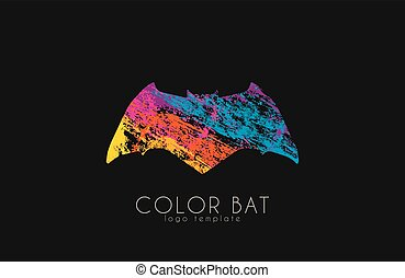 Bat logo. Color bat. Creative logo design