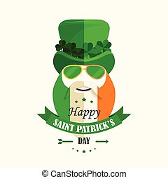Happy St. Patricks Day Isolated vector cartoon character...