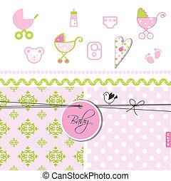 Baby shower - Set of design elements