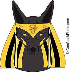Graphic illustration of Anubis