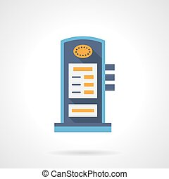 Charging station flat color vector icon - Modern local...