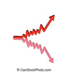 Red Up Arrow - Red business stock chart arrow