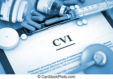 CVI Diagnosis. Medical Concept. 3D Render. - Diagnosis - CVI...