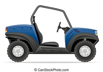 atv car buggy off roads vector illustration isolated on...