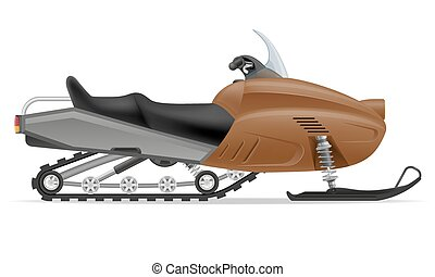 snowmobile for snow ride vector illustration isolated on...