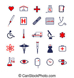 médico, iconos