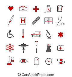 Medical Icons - Medical icons isolated on a white background