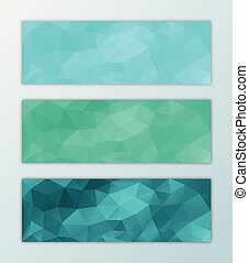 Website banner template set abstract triangle polygon...