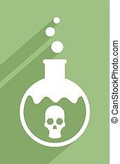 green poison icon - Creative design of green poison icon