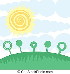 happy sun day - Creative design of happy sun day