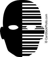 imaginative head icon - Creative design of imaginative head...