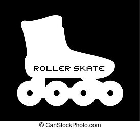 imaginative roller skate icon - Creative design of...