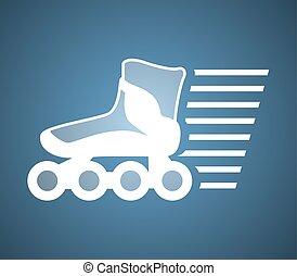 nice roller skate symbol - Creative design of nice roller...