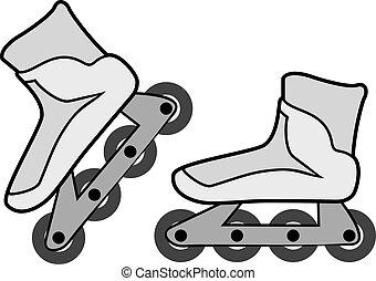 roller skates illustration - Creative design of roller...