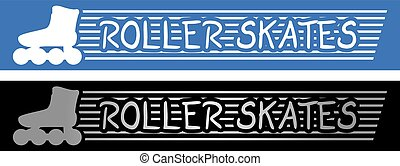 roller skates symbols - Creative design of roller skates...