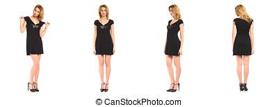 Beautiful model in summer dress on