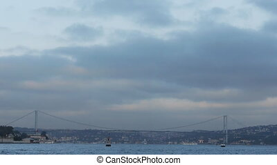Istanbul bosphorus bridge. - Lovely seascape and landscape....