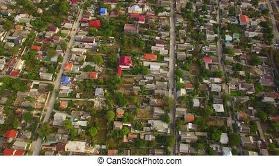 Private Sector With Houses In City District - AERIAL VIEW...