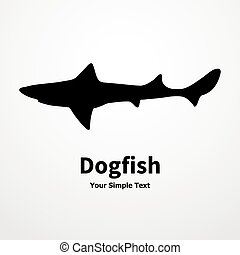 Dogfish - Vector illustration of a fish, shark, dogfish On a...