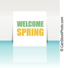 Welcome Spring Holiday Card Welcome Spring Vector Welcome...