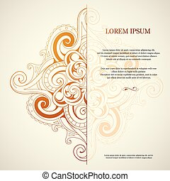 Orient style card - Ornamental card with orient style design...