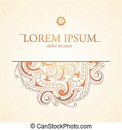 Orient style card - Card design with orient style ornament...