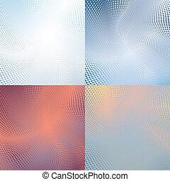 Halftone colorful retro dots