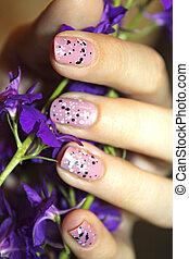 Stylish manicure - Stylish feminine gentle beautiful...