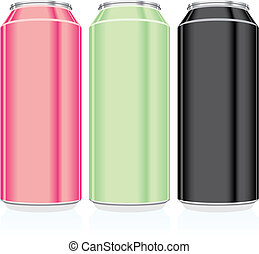 isolated beer cans - fully editable vector illustration of...