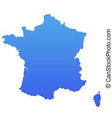 Blue France map