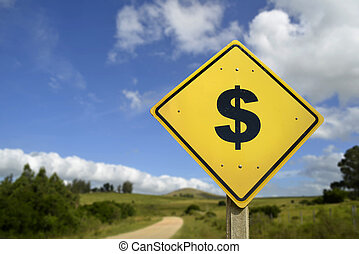 Healthy road to make money concept icon sign - Natural way...