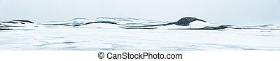 invierno, paisaje, con, hielo, en, Noruega, naturaleza, y,...