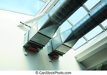 ventilation pipe of an air condition for fresh environment