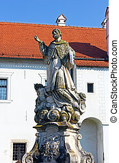 Statue of saint Ivan Nepomuk - Baroque sculpture of saint...
