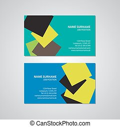 set - two business cards