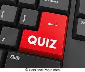 quiz - Text quiz button 3d render