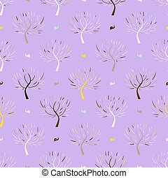 Pattern with colorful trees - Simple elegant pattern with...