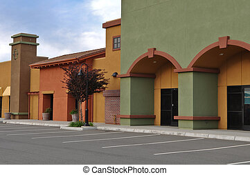 New Shopping Center Store Front - New Green and Yellow...