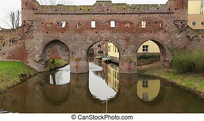 Zoom old city wall - Zoom on old city wall Zutphen The...